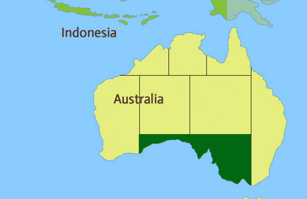 South Australia Region Map