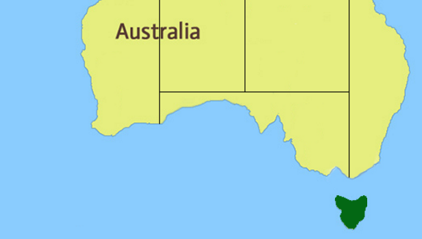 Tasmania Region Map